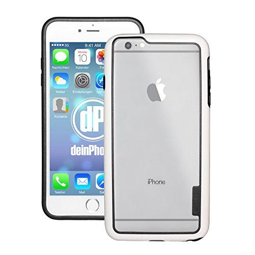 deinphone Apple iPhone 6Plus (5.5) Coque bumper Case Weiß Schwarz