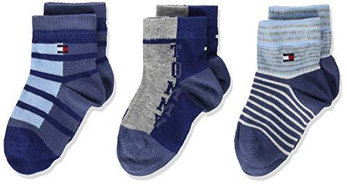 Tommy Hilfiger Jungen Socken Baby TH ORIGINAL GIFTBOX 3P, 3er Pack, Pink (Midnight Blue 563) 19-22