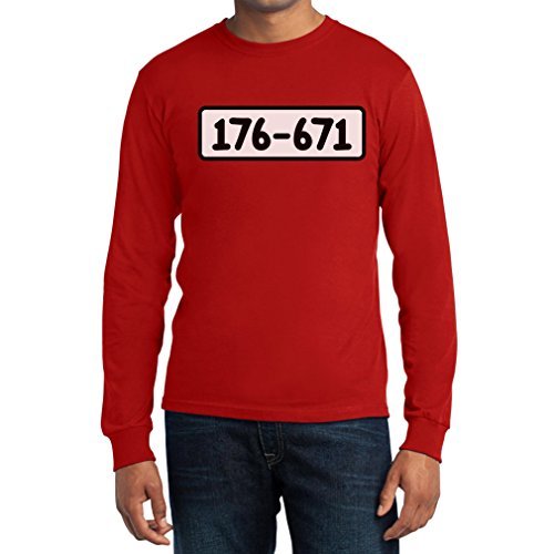 Kostüm Zahlen Gefängnis - Panzerknacker Shirt Kostüm Karneval Fasching Langarm T-Shirt X-Large Rot