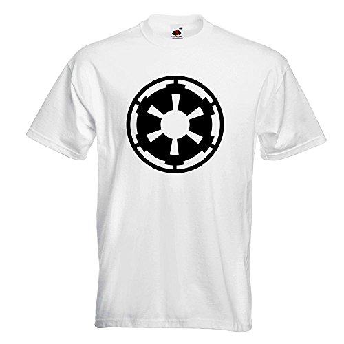 KIWISTAR - imperium T-Shirt in 15 verschiedenen Farben - Herren Funshirt bedruckt Design Sprüche Spruch Motive Oberteil Baumwolle Print Größe S M L XL XXL Weiß