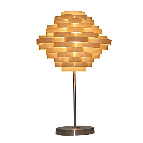 (QIANGQIKreativ, minimalistisch, handmade, DIY abstrakt Laterne LED Schreibtischlampe, DIY abstrakte Laterne LED Nachtlicht mit Laternen-Design, Legierung made Lampenkörper für Schlafzimmer, Dekoration, Wohn)