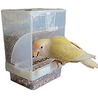 Hypeety - Comedero automático para pájaros, sin ensuciar, alimentador para Mascotas, contenedor de Alimentos, Jaula de Perca, Accesorios para Periquito, Canario, cóctel