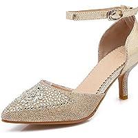 ZQ Zapatos de mujer - Tac¨®n Bajo - Punta Cerrada / Puntiagudos - Planos - Oficina y Trabajo / Vestido / Casual - Semicuero -Rosa / Plata / , gray-us8 / eu39 / uk6 / cn39 , gray-us8 / eu39 / uk6 / cn3