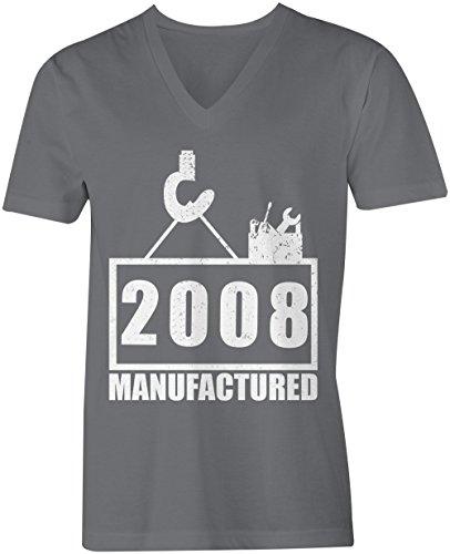004c6e32272c67 Manufactured 2008 - V-Neck T-Shirt Männer-Herren - hochwertig bedruckt mit