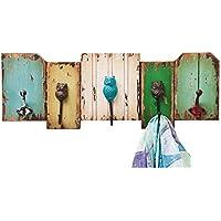 Kare Owl Garderobe, Holz, Bunt, 8 x 64 x 22.5 cm