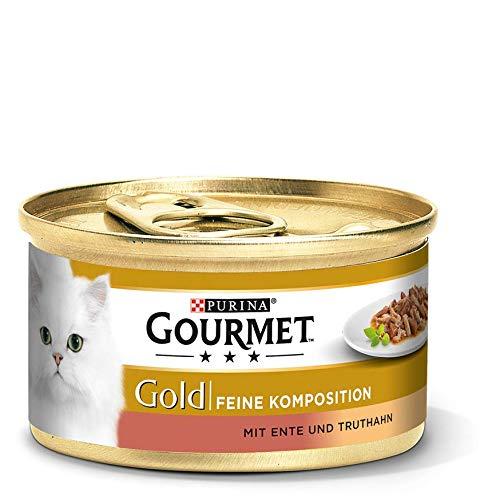 Purina GOURMET Gold Feine Komposition:Mit Ente Und Truthahn,12er Pack (12 x 85 g)