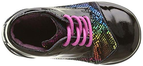 Mod8 Lou, Chaussures Premiers Pas Bébé Fille Noir (Noir imprimé)