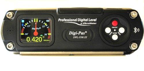 Preisvergleich Produktbild digi-pas dwl3500X Y 0,001Grad Auflösung Dual Axis Digital Master Maschinist Wasserwaage mit Bluetooth Verbindung und Pro Software