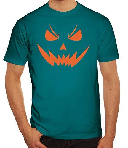 Fasching Karneval Gruppen Herren Männer T-Shirt Rundhals Halloween Horror Face 2, Größe: L,Diva (Männer Ideen Coole Halloween-kostüm)