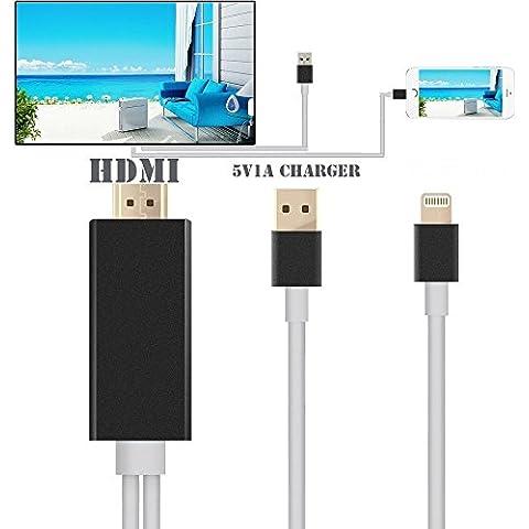 New 8Pins lighting Cable Adaptador AV HDMI/HDTV TV para iPad iPhone 5S 6 6S Plus