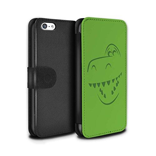 Stuff4® PU-Leder Hülle/Case/Tasche/Cover für Apple iPhone 5C / Rex Dino Inspiriert Muster/Süße Spielzeugfiguren Kollektion