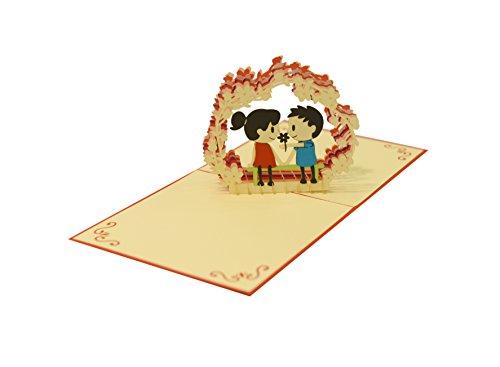 Auguri Anniversario Matrimonio Foto : Yokarta d biglietto pop up biglietto matrimonio biglietto