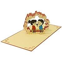 ... de Felicitación 3D de Boda con Sobre | para Agradecimiento Invitaciones Regalos de Boda elegantes Hecho a Mano | Carta-Postal Cumpleaños Aniversario ...