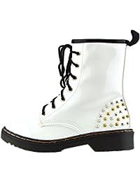 Señoras tobillo retro botas de combate de la mujer de encaje funky vintage goth martin arranque de tobillo