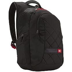 """Case Logic DLBP116K Sac à dos fashion en nylon pour ordinateur portable 15,4"""" / 16"""" Noir"""