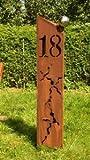 Gartendeko Rostsäulen Hausnummer 18 Säule