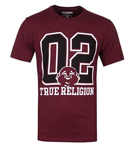 True Religion Varsity Buddha Burgundy T-Shirt - XXL