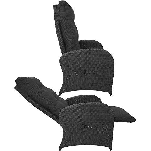 Wohaga® Poly-Rattan Sessel Gartensessel Rattansessel Relaxsessel Loungesessel Fernsehsessel - 5