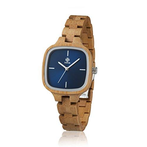 Quarz Holz Bambus Zeitholz Analog Damen Holzuhr Roßwein Armband Modell Uhr K3lFJTc1