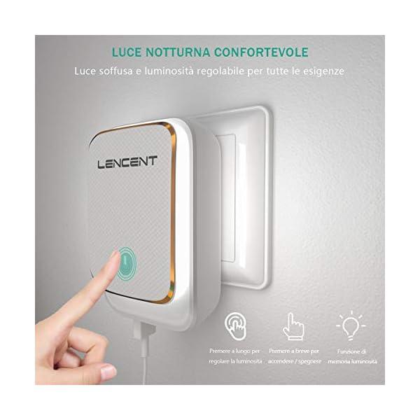 Adattatore-Universale-da-Viaggio-LENCENT-Spina-USB-a-4-Porte-con-Luce-Notturna-Touch-Adattatori-Prese-Caricatore-per-USAUKEUAUS-Ideale-per-Molteplici-Usi-iPhoneSamsung-ecc
