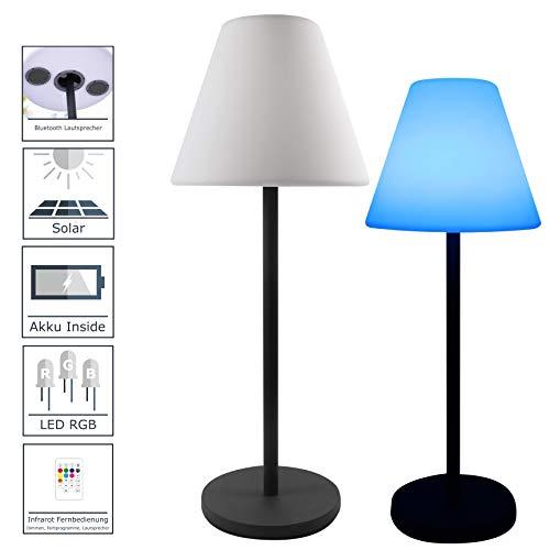 7even Design Lampe Solaire LED pour extérieur avec Haut-Parleur Bluetooth intégré