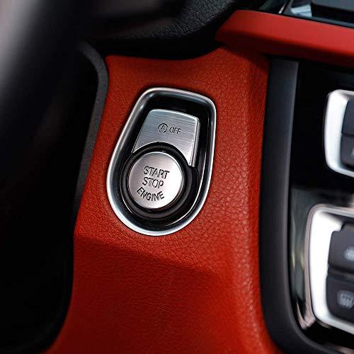 Bouton-Poussoir de démarrage Bouton d'arrêt Couvercle de Garniture pour 1 2 3 4 3 Série GT F20 F30 F32 F34 Argent