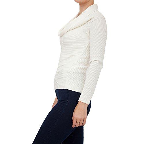 Armani Damen Pullover Weiß Bianco (Wolle Pullover Armani)