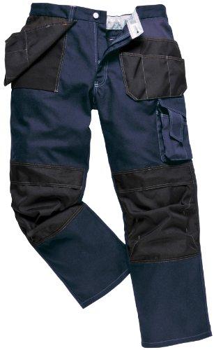 Arizona 2 Tone Hose Pants Workwear Knietaschen Flexi Fit BP52 Holster, blau, BP52DNTXL (Baumwolle-zwei-ton-taschen)