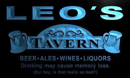 px168-b-leos-tavern-beer-mug-bar-pub-wine-neon-light-sign