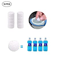Yeldou Washing Machine Cleaners, Multi-Purpose Cleaning Effervescent Tablets PE Multifunctional Washing Machine Tank Cleaning Sheet For All Washing Machine, Deep Cleaning And Strong Elasticity,10Pcs