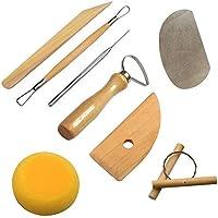 Cozyswan 8pcs Outils d'Artisanat de Poterie Kit Sculpture en argile