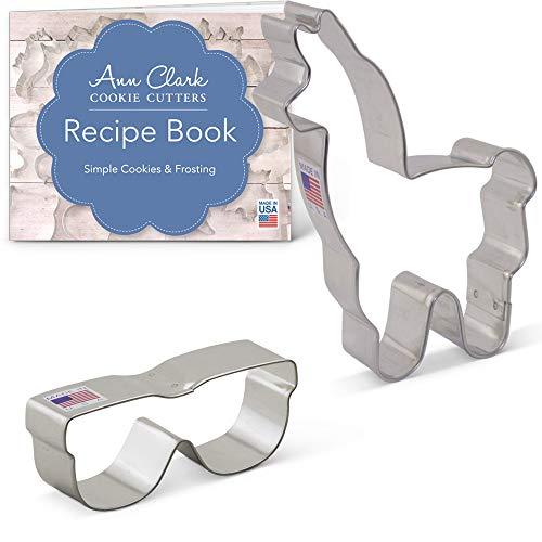 Ann Clark Ausstechformen-Set No Probllama und Sonnenbrille, aus den USA hergestellter Stahl