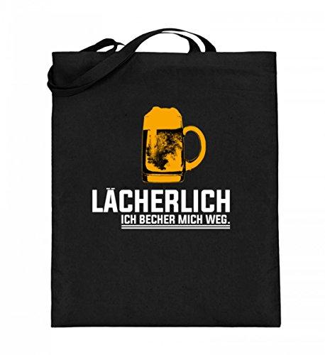 Lächerlich! Ich Becher Mich Weg! Party Gruppen Bier - Schlichtes Und Witziges Design - Jutebeutel (mit langen Henkeln)