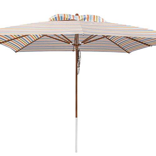 anndora® Sonnenschirm Marktschirm Gastronomie Biergarten 4 x 4 m - mit Winddach gestreift 7 Farben