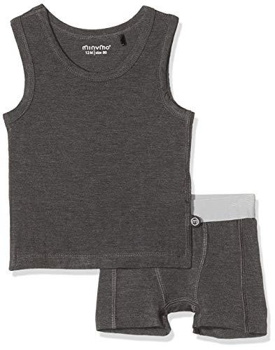 MINYMO Baby-Jungen angenehme Unterwäsche-Set, Grau (Dark Grey Melange 121), (Herstellergröße:80)