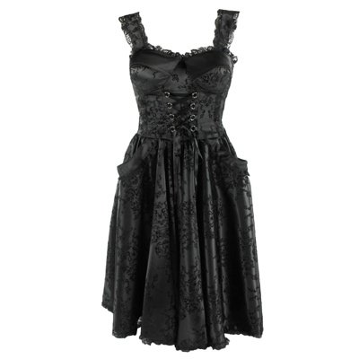 Hell Bunny dell'abito MATILDA LONG DRESS black