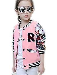 Vestido de niña de invierno blusa ropa, RETUROM Cool moda nueva moda niñas niños béisbol chaqueta larga manga capa ropa Outwear