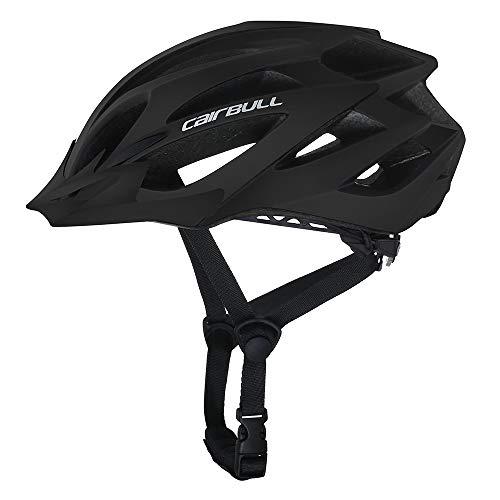 Cairbull Größe M und L Specialized Fahrradhelm MTB Helm Mountainbike Helm Herren & Damen Schwarz mit Rucksack Fahrrad Helm Integral 21 Belüftungskanäle (Schwarz01, M/L (55-61CM))