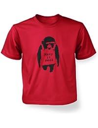 Bleib dir treu Affe Kinder Banksy T-Shirt Kinder T-Shirt