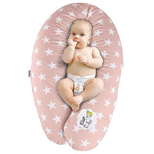Sei Design Stillkissen Schwangerschaftskissen | Füllung: 3-D Faserbällchen Ökotex zertifiziert. Bezug mit Reißverschluss. XXL 190 x 30 cm