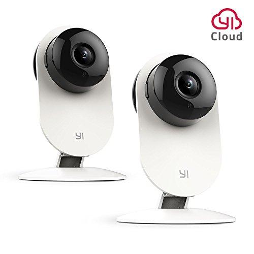 YI IP Camera 720P Telecamera di Sorveglianza Interno Wireless Videocamera di Sicurezza Visione Notturna Sensore di Movimento - Pacco da 2
