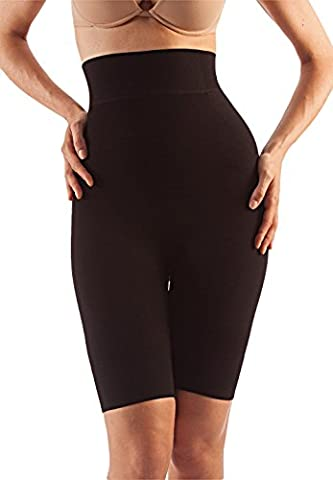 FarmaCell Shape Cotton 613 (Black, L) Women's high-waisted shaping control shorts with flat tummy