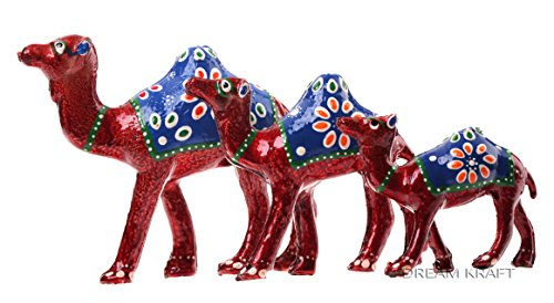 Dreamkraft Handcrafted Set Of 3 Showpiece Camel For Decoration And Gift Purpose (12X12Cm ,10X 10Cm ,8X 8Cm)