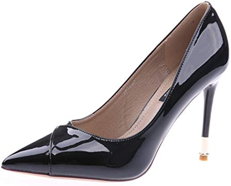 HOESCZS 2019 Autumn New Pointed scarpe Patent Leather Stiletto Stiletto Stiletto Heels Slim Shallow Mouth Set Foot Single scarpe Female... | Di Qualità Dei Prodotti  | Scolaro/Ragazze Scarpa  a092b4