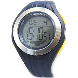 Silicone watch 'Umbro'yellow blue gray (digital).
