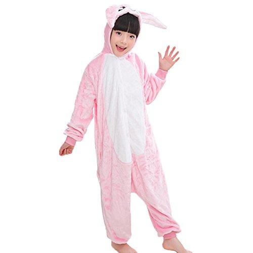 Unisex niños Capucha Onesie Pijamas Warm Franela