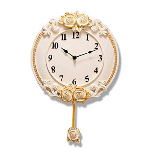 Everyday home Résine Silencieux Horloge Murale Européenne Stéréo Personnalité Salon Chambre Moderne Atmosphère Artiste Décoration Horloge À Quartz