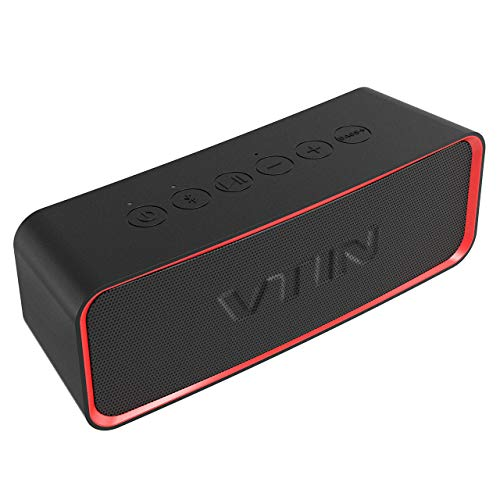VicTsing VTIN Actualizar Altavoz Bluetooth portátil, 24 Horas de duración de la batería y 14W de Potencia, IPX6 a Prueba de Agua, Bass + Exclusivo, Adecuado para Interiores y Exteriores.