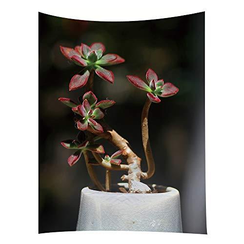 jtxqe Tapisserie Bett Kopf Hintergrund Wand frische Pflanze Modelle 20 150 * 130cm
