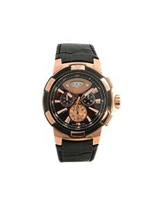 Cerruti - CRA003D222G - Montre Homme - Quartz - Analogique - Chronographe - Bracelet Cuir Noir